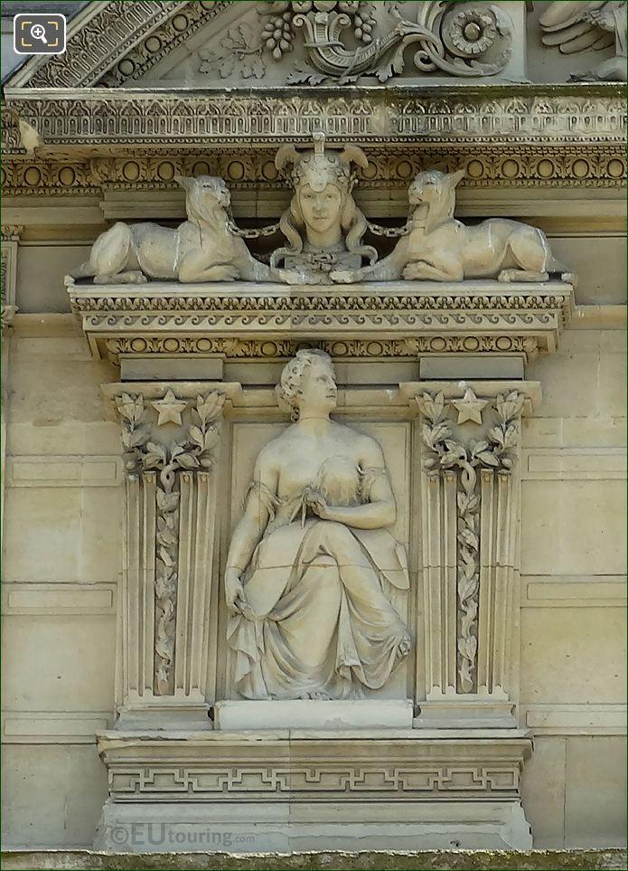 Eighth Window Left Hand Side Paix Bas Relief Sculpture On Aile De Marsan