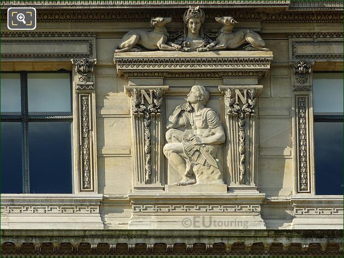 La Prevoyance Sculpture On Aile De Flore Right Hand Side Eighth Window