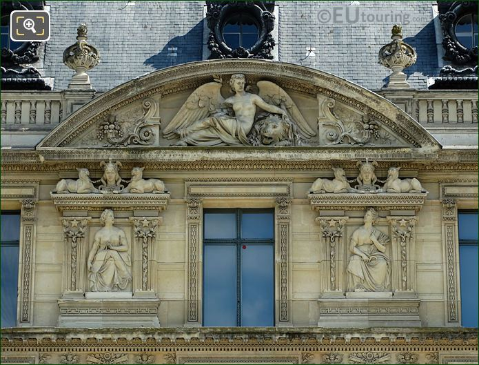 Aile De Marsan Eighth Window Facade With The Peace Sculpture