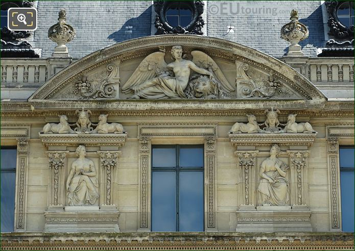 Aile De Marsan Eighth Window Facade With Paix Bas Relief Sculpture