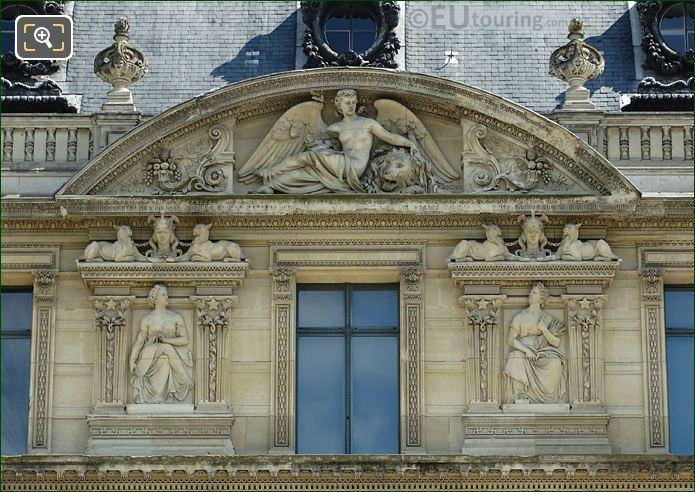 Aile De Marsan Eighth Window Facade With Paix Bas Relief Sculpture
