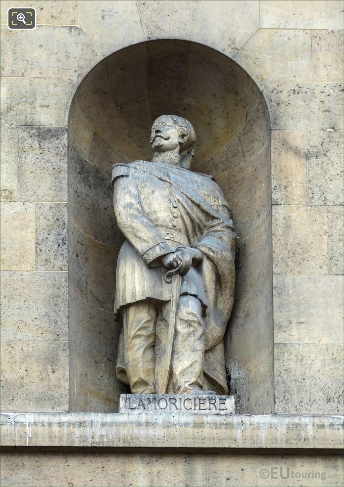 General Lamoriciere Statue On Aile De Rohan-Rivoli At Musee Louvre
