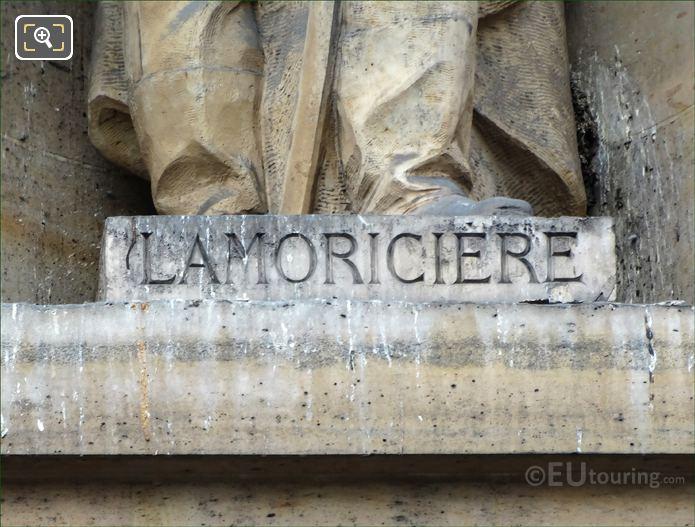 General Lamoriciere Inscription On Statue Pedestal