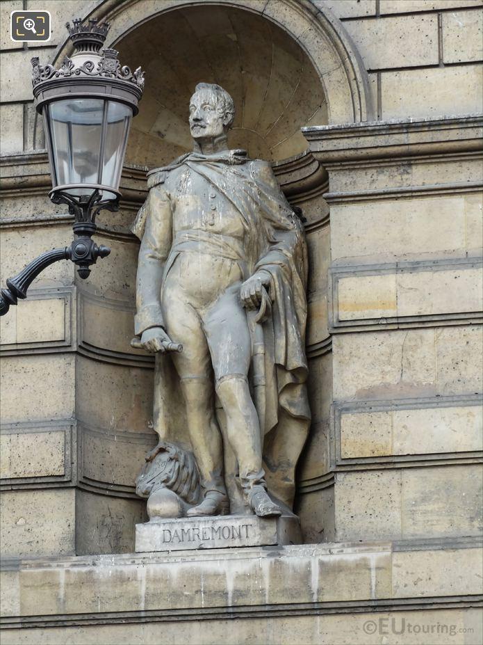Damremont Statue On Aile De Rohan-Rivoli At Musee Du Louvre
