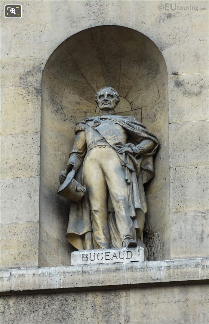 Thomas Bugeaud Statue On Aile De Rohan-Rivoli At Musee Louvre