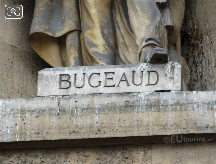 Bugeaud Inscription On Statue Base