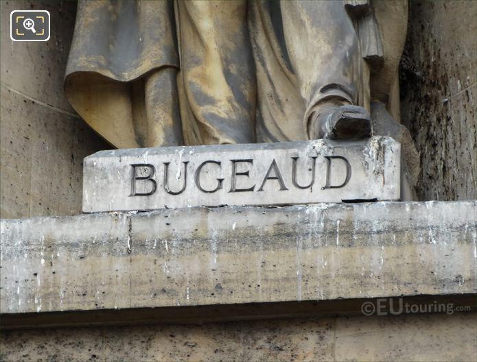 Bugeaud Inscription On Statue Base