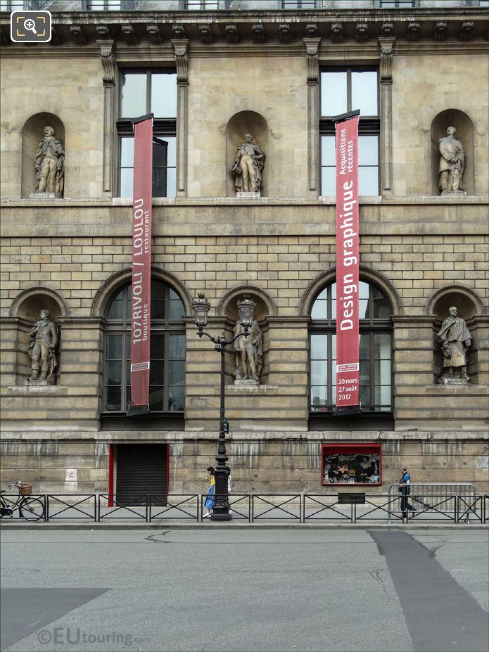 Aile De Rohan-Rivoli With Thomas Bugeaud Statue