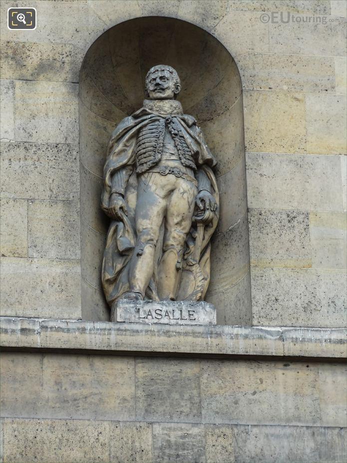 Comte De Lasalle Statue On Aile De Rohan-Rivoli At Musee Louvre