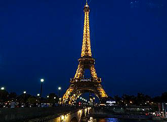 Lights On The Eiffel Tower
