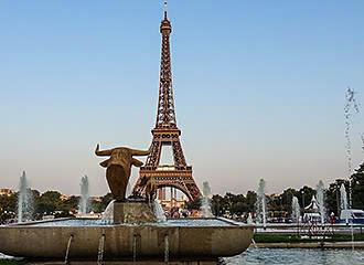 Eiffel Tower And Nearby Statue