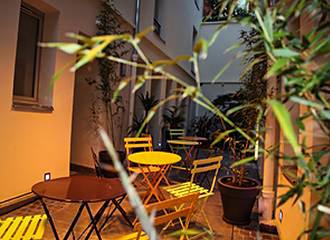 Loft Boutique Hostel courtyard