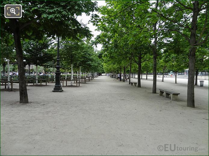 Allee Des Feuillants Pathway In Jardin Des Tuileries Looking North West