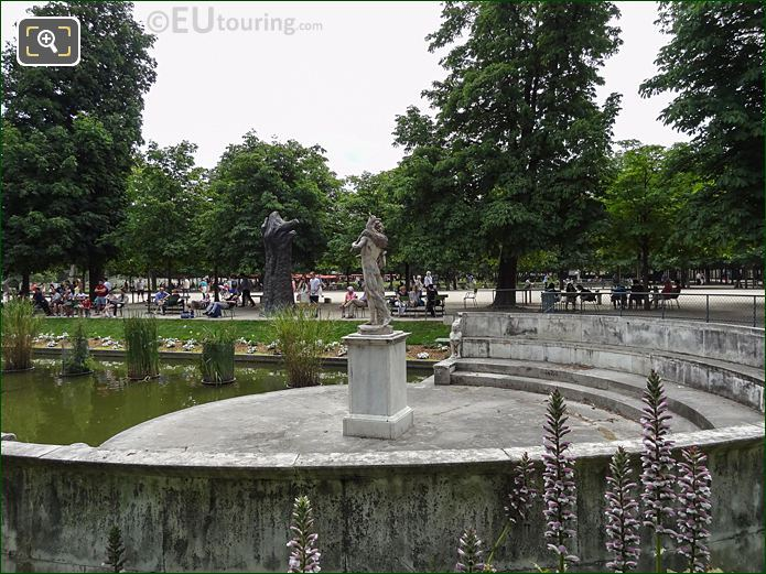 Exedre Nord Inside Jardin Des Tuileries Looking South, South East