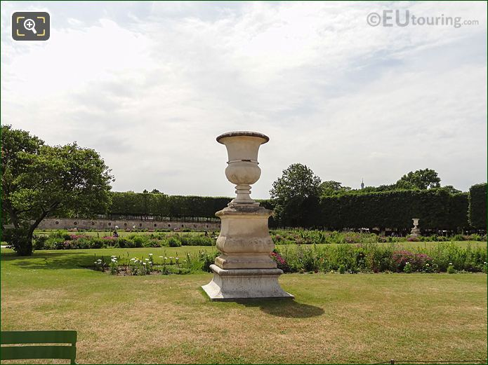 Demi-Lune Carre De Fer Sud Inside Jardin Des Tuileries Looking South West