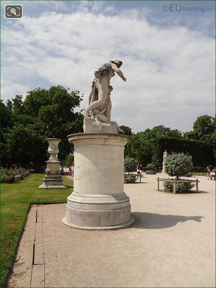 Central Pathway Inside Jardin Des Tuileries Looking North West