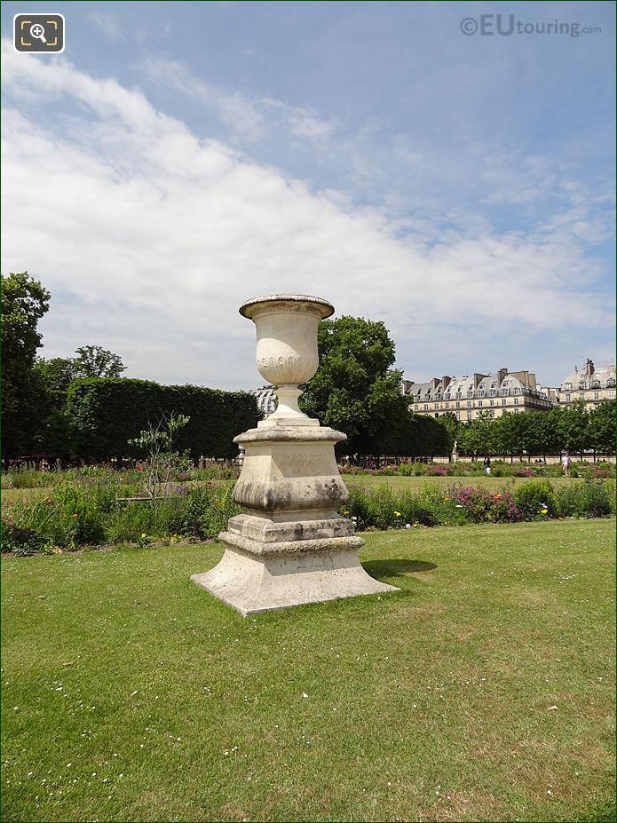Demi-Lune Carre De Fer Nord In Jardin Des Tuileries Looking North West
