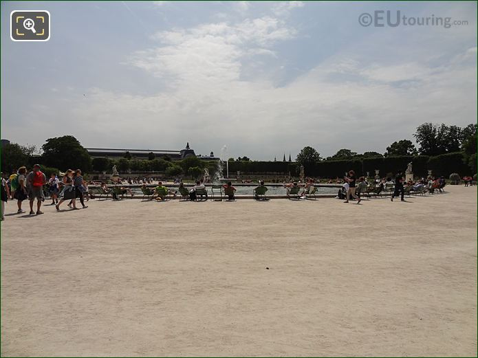 Large Round Pond Inside Jardin Des Tuileries Looking South, South West