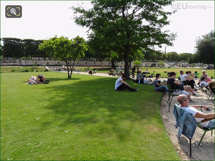 Grand Reserve Sud Jardin Des Tuileries Looking SW