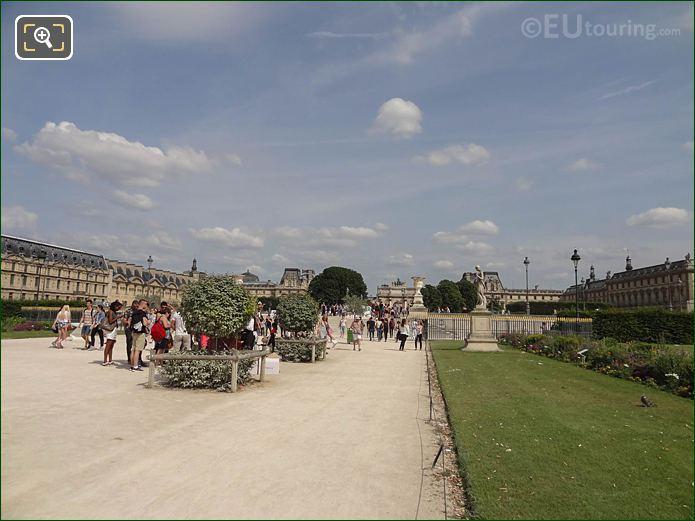 Allee Centrale Inside Jardin Des Tuileries Looking South East