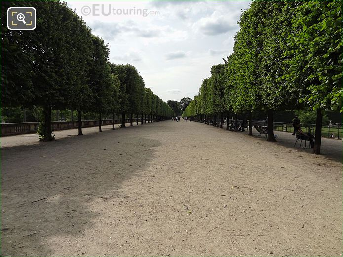 Terrasse Du Bord De l'Eau Pathway In Jardin Des Tuileries Looking North West
