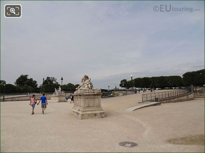 Fer A Cheval Jardin Des Tuileries Looking SW