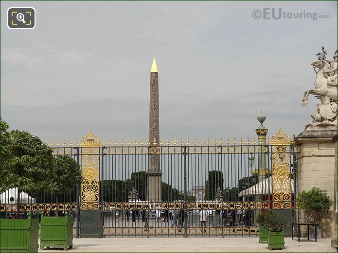 Jardin Des Tuileries Gilded Gates Western Entrance Looking NW