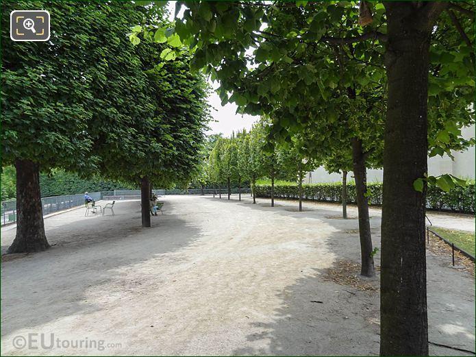 Terrasse Du Bord De l'Eau Pathway In Jardin Des Tuileries Looking South East