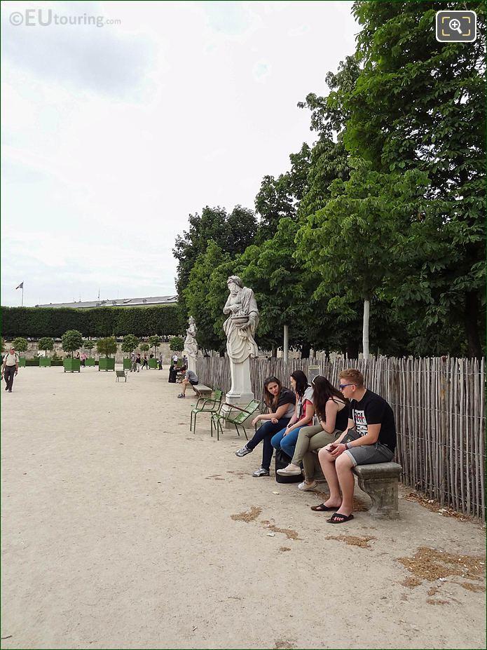 Verte Nord-ouest Border In Jardin Des Tuileries Looking North, North West