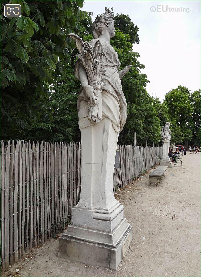 Salle Verte Sud-Ouest Garden Border In Jardin Des Tuileries Looking South East