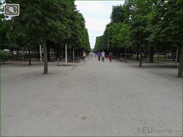 Allee Sous Couvert Nord Ine Jardin Des Tuileries Looking South East