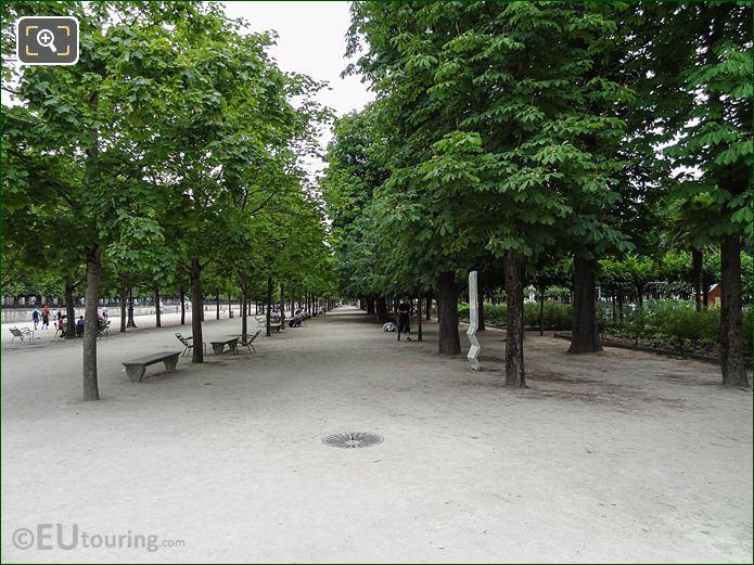 Allee Des Feuillants Pathway In Jardin Des Tuileries Looking South East