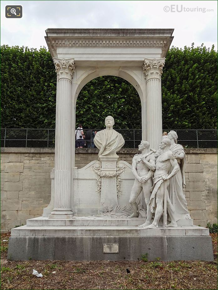 Waldeck-Rousseau Monument Jardin Des Tuileries Looking NW