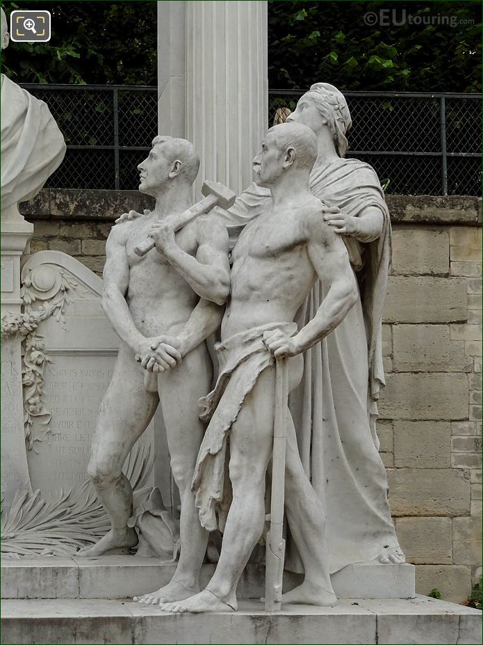 Grand Couvert Worker Statues Jardin Des Tuileries Looking NW