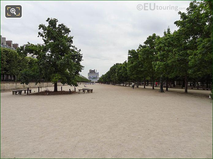 Esplanade Des Feuillants Pathway Tuileries Gardens Looking SE
