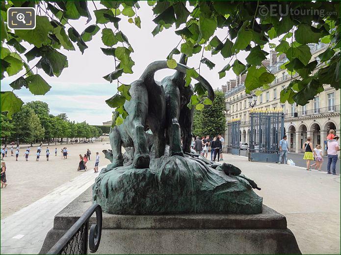 View From Terrasse Des Feuilants Walkway In Jardin Des Tuileries Looking North West