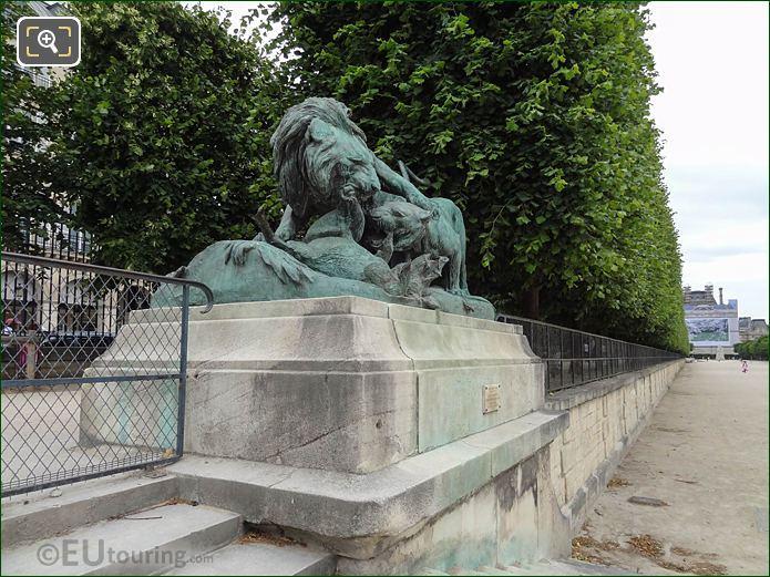 Terasse Des Feuillants Statues Jardin Des Tuileries Looking SE