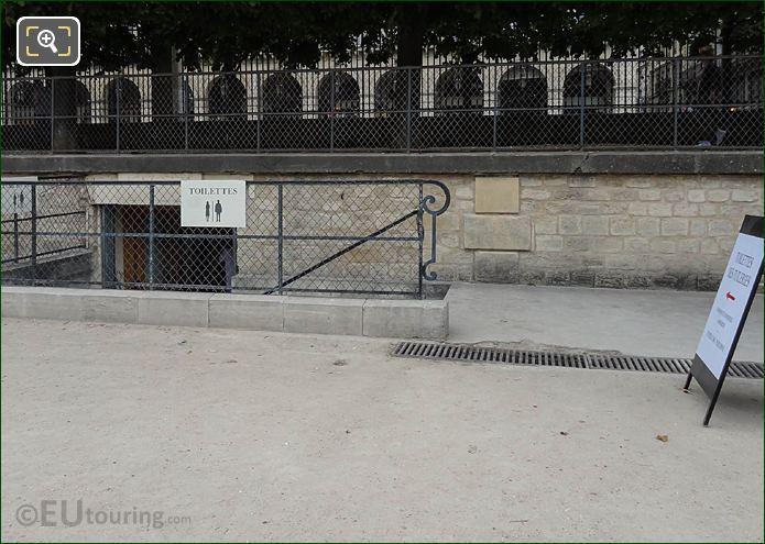 Esplanade Des Feuillants Public Toilets Jardin Des Tuileries Looking NE