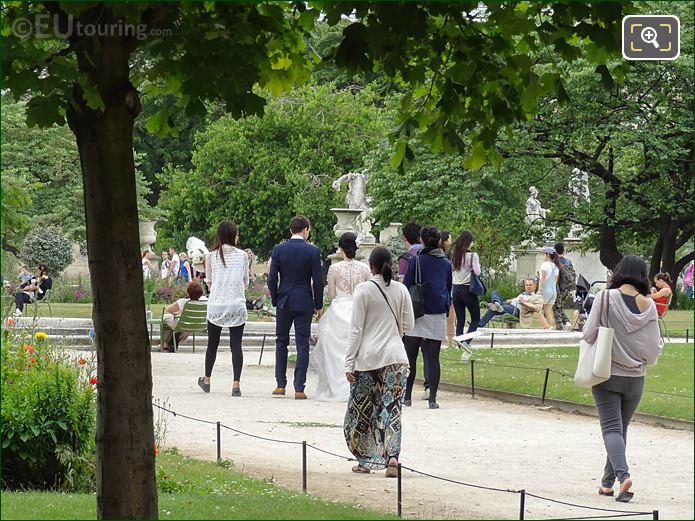 Grand Carre Gardens Jardin Des Tuileries Looking SW