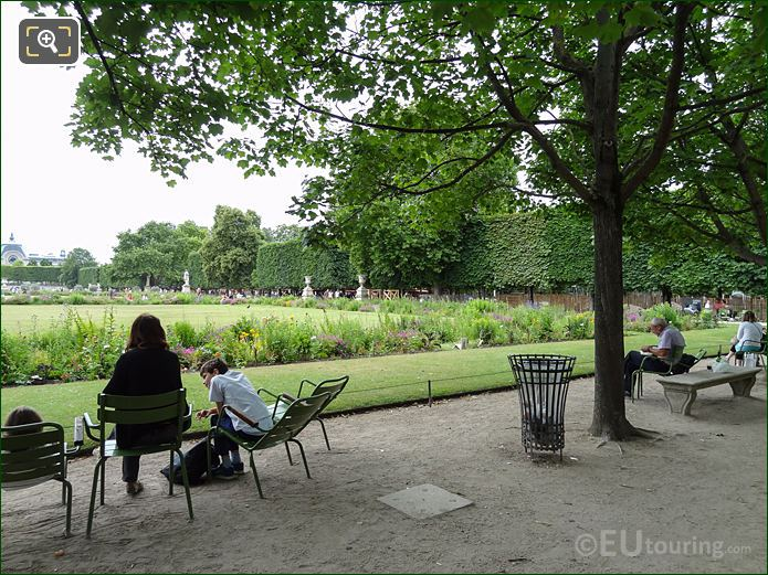 View From Allee Des Feuillants Pathway In Tuileries Gardens Looking South West