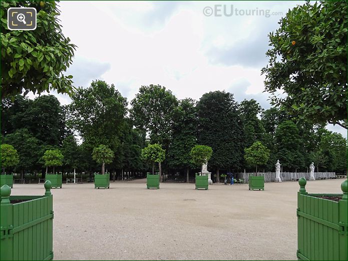 Orange Trees Jardin Des Tuileries Looking SE