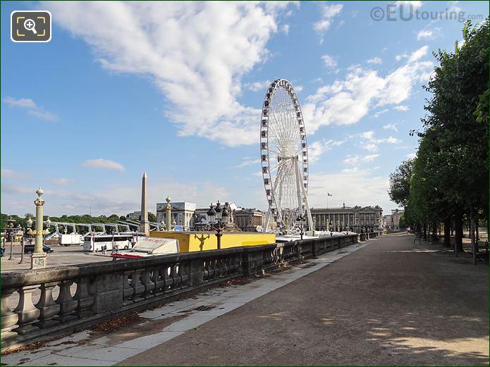 Terrasse De l'Orangerie Jardin Des Tuileries Looking NNE