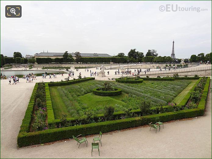 Roseraie Nord Jardin Des Tuileries Looking SW