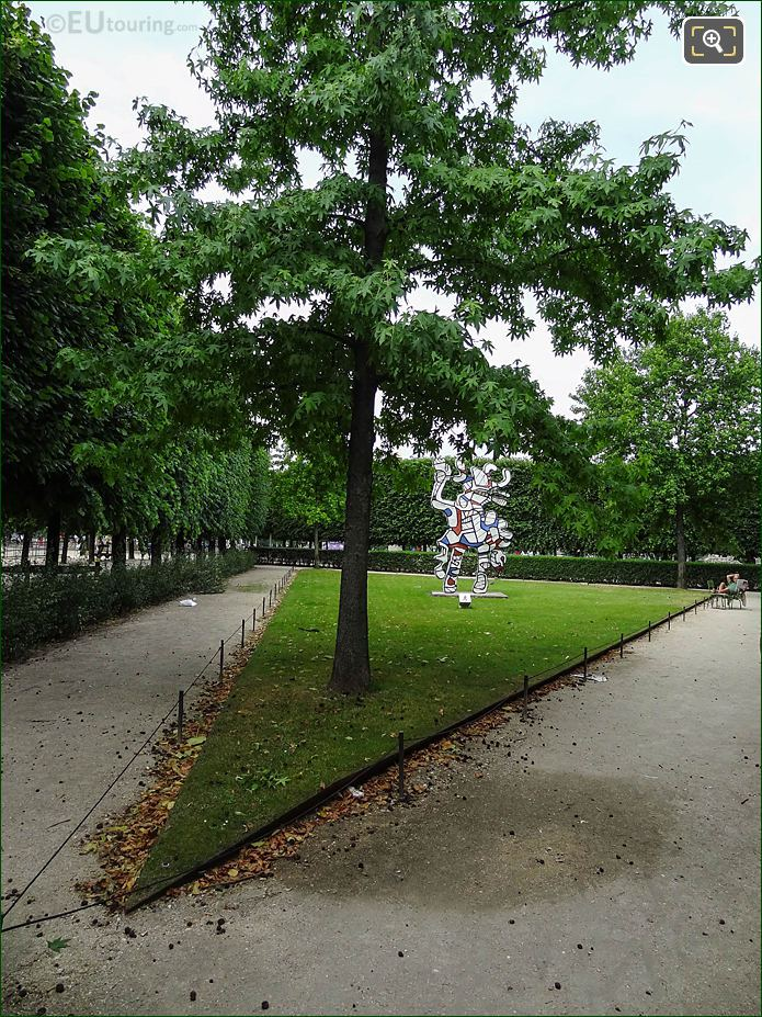 Terrasse Du Jeu De Paume Jardin Des Tuileries Looking West