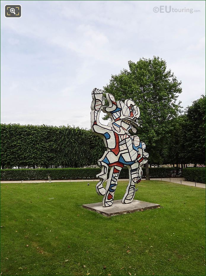 Modern Art Jardin Des Tuileries Looking NW