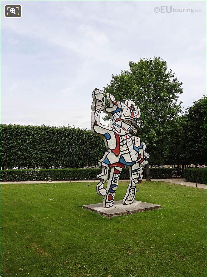 Modern Art Jardin Des Tuileries Looking NW