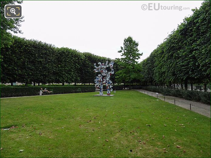 Terrasse Du Jeu De Paume Garden In Jardin Des Tuileries Looking East
