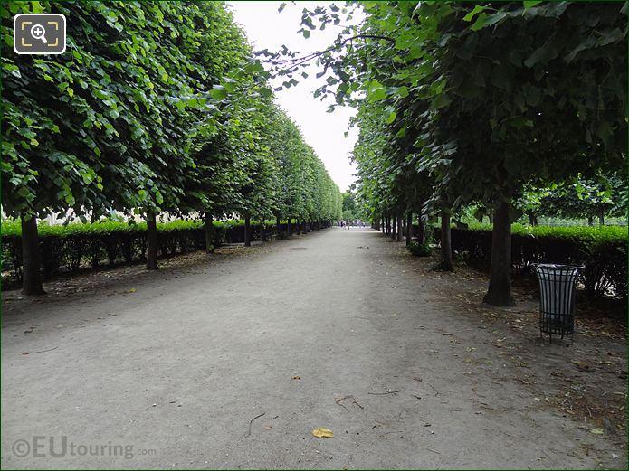 Terrasse Du Jeu De Paume Pathway In Jardin Des Tuileries Looking South East