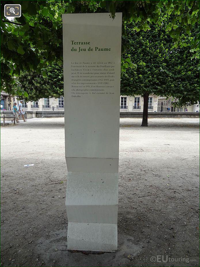 Jeu De Paume Tourist Info On Terrasse De Jeu De Paume