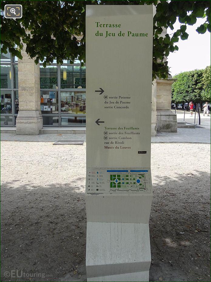 Tourist Information Board On Terrasse Du Jeu De Paume Looking South West
